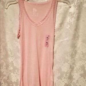 "Lacy Tank Top Pink ""Love to Lounge"""